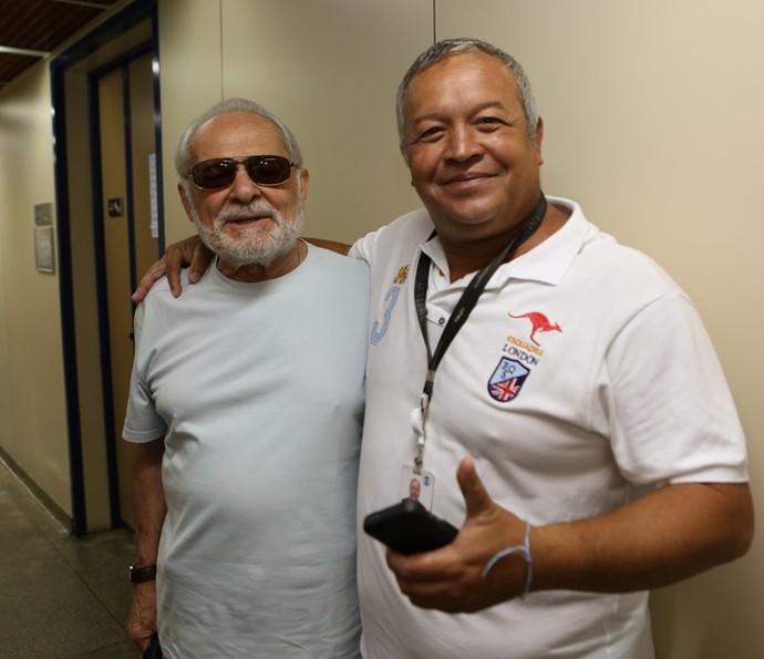 Othon Bastos e Marcelo Polaco: amizade 'Além do Tempo' (Foto: Carol Caminha/Gshow)