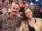 Fernanda Rodrigues brinca com cabelo de Paulinho Vilhena: 'É o Cebolinha'