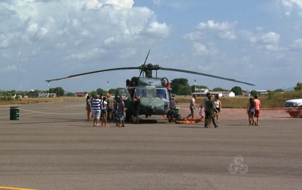 População teve a oportunidade de conhecer a sede da Base (Foto: Bom Dia Amazônia)