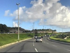 Avenida Paralela (Foto: Eric Luis Carvalho/Globoesporte.com)
