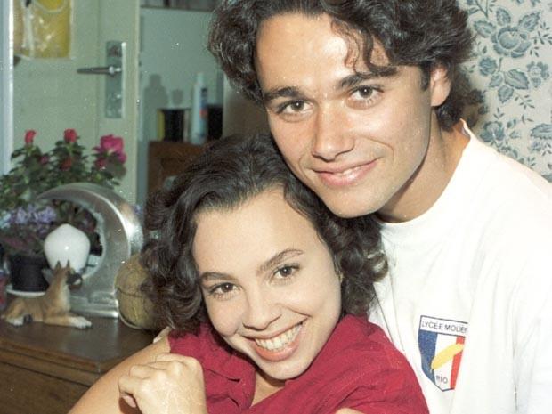 Joyce (Carla Marins) e Caio (Ângelo Paes Leme) (Foto: CEDOC/TV Globo)