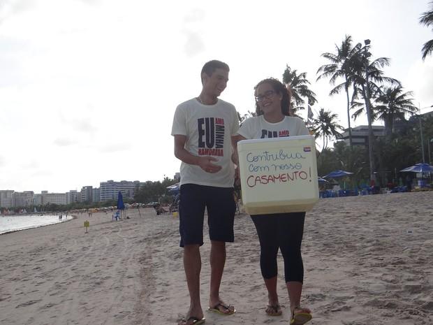 Silvia e Barboza vão se casar em outubro deste ano (Foto: Larissa Vasconcelos/G1)