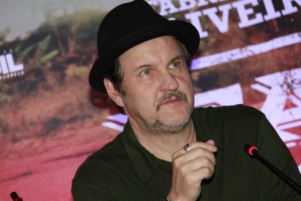 "Antônio Calloni na coletiva de ""Faroeste Caboclo"" (Foto: Isac Luz / EGO)"