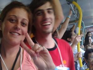 'Só de Rosario virão 700 pessoas e da Argentina, 50  mil' projeta Yanina Gonzales. (Foto: Gabriel Barreira/G1)