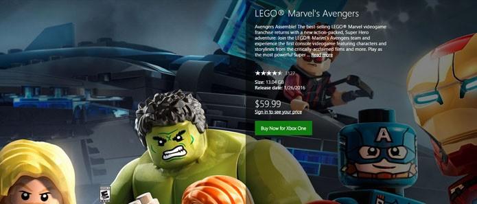 Página da versão de Xbox One do game (Foto: Reprodução/André Mello)