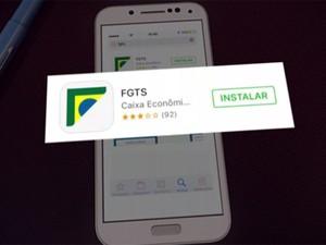Aplicativo do FGTS (Foto: Reprodução/Globo)
