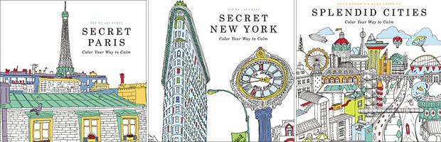 Secret Paris (Zoe de Las Cases), Secret New York (Zoe de Las Cases) e Splendit Cities (Rosie Goodwin e Alice Chadwick), todos da Editora Little, Brown and Company (Foto: Divulgação)