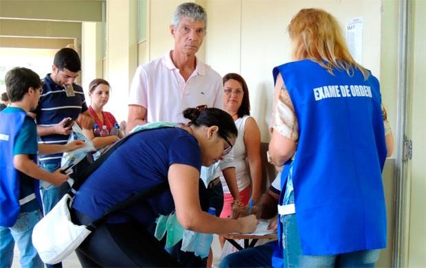 Em Natal, inscritos fizeram provas na Universidade Federal do Rio Grande do Norte  (Foto: Divulgação/OAB)