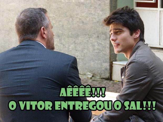 Demorou (bastante), mas o Vitinho resolveu abrir o jogo com o Olavo!  (Foto: Malhação / Tv Globo)