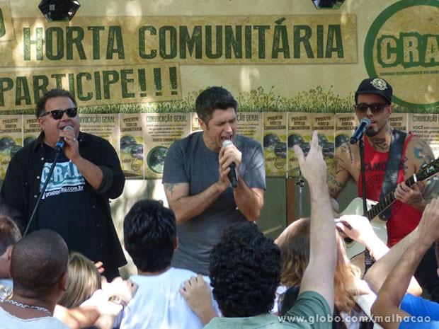 O show foi animadaço e a galera tocou 5 músicas!!! Não dá pra perder, né? (Foto: Malhação / Tv Globo)