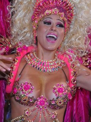 Internautas elegem Lívia Andrade como a musa do carnaval de SP (Flavio Moraes/G1)
