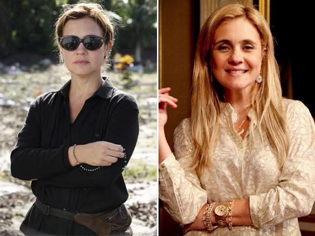 Antes e depois de Carminha (Foto: Avenida Brasil / TV Globo)
