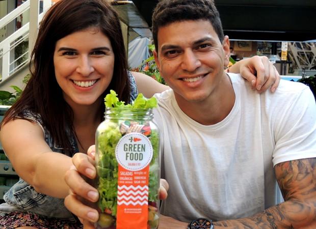 Noelle Cunha e Filipe Fernandes, da Green Food (Foto: Divulgação)