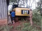 Máquina agrícola furtada em SC é achada a 500 km de distância, no PR