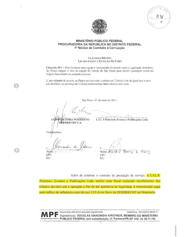 Ministério Público - Lula - Odebrecht (Foto: Reprodução)