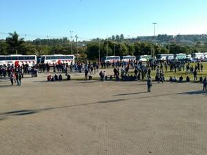Segundo organizadores, 7 mil pessoas protestaram no Parque das Águas (Foto: Fernando Bellon/TV TEM)