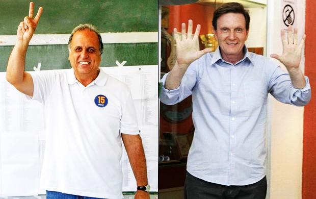 Pezão e Crivella disputam segundo turno no Rio de Janeiro/GNews (Foto: Reprodução GloboNews)