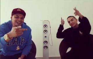 Cacau Junior com MC Guimê (Foto: Reprodução / Instagram)