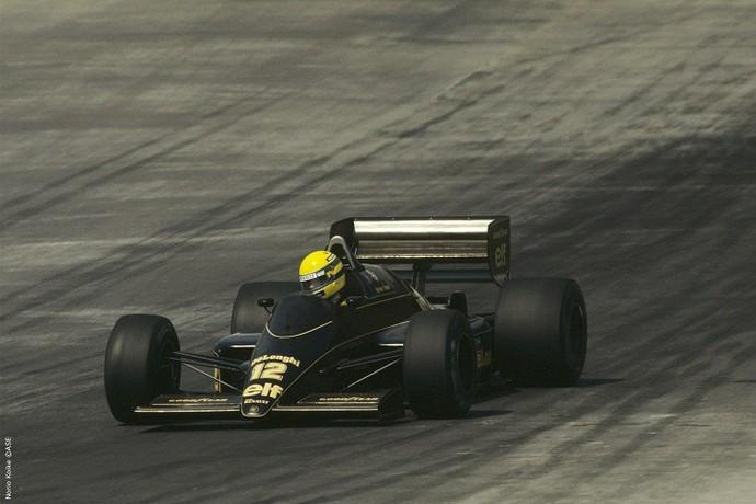 Em 1986, Senna disputou o Grande Prêmio do México pela Lotus (Foto: Norio Koike)
