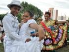 Centro cultural recebe apresentação de quadrilhas juninas infantis no CE