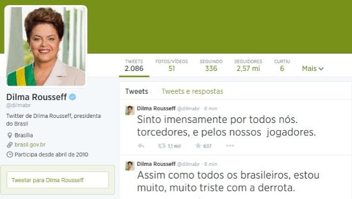 Dilma no twitter (Foto: Reprodução)