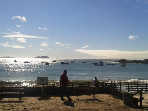 Dia deve ser de sol em SC (Foto: Valéria Martins/G1)