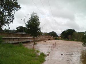 Rio Taquari está acima do nível normal em Coxim, MS (Foto: Divulgação/ Defesa Civil de Coxim)