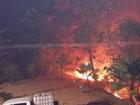 No Ceará, incêndio atinge vegetação da Serra da Ibiapaba