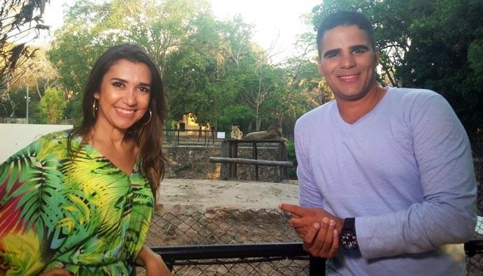 Helder Vilela e Simone Castro visitam a parque Zoobotânico (Foto: Gshow/Rede Clube)