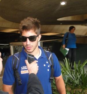 Lucas Silva, volante do Cruzeiro (Foto: Tayrane Corrêa)