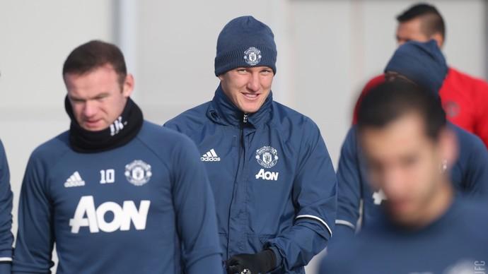 Schweinsteiger treino Manchester United (Foto: Site oficial / Manchester United)