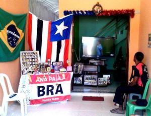 Ana Paula torcida Maranhão (Foto: Arquivo Pessoal)