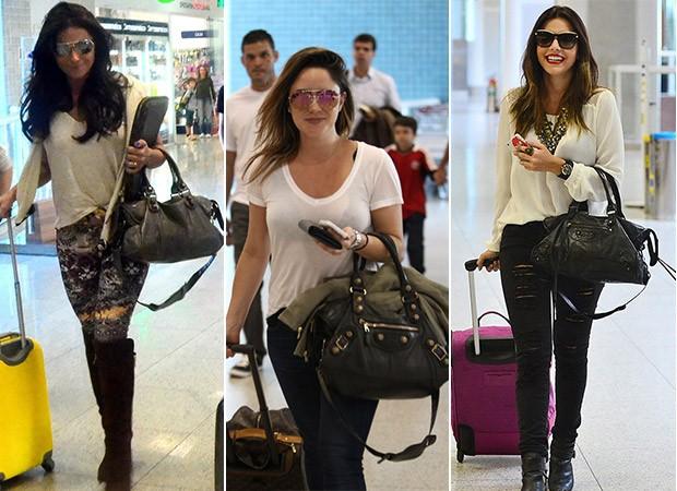 6bcdc4c9e [MODA] Bolsas Balenciaga - Giovanna Antonelli, Fernanda Vasconcellos e  Nanda Costa (Foto