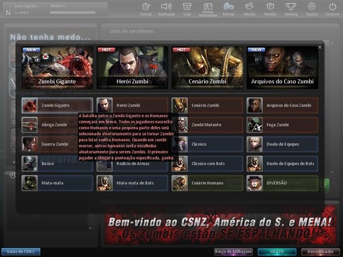 Ao clicar na engrenagem ao lado do botão para iniciar as partidas, o jogador pode escolher o modo de jogo (Foto: Divulgação)