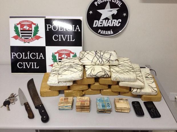 A suspeita é de que a droga seria deixada em Presidente Prudente (Foto: Wellington Roberto/G1)