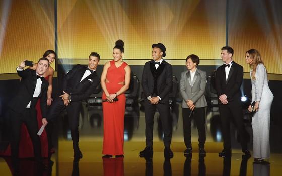 Candidatos a melhor do mundo na Bola de Ouro da Fifa em 2015 (Foto: Getty Images)
