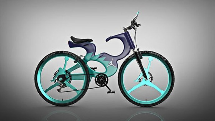 Bicicleta criada por Pinterest para homenagear o Michael Jordan (Foto: Divulgação )