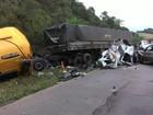 Acidente envolvendo quatro veículos mata caminhoneiro no Oeste de SC