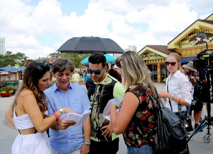 Bastidores do 'É de casa' no Disney Springs, na Flórida (Foto: Leonardo Viso/ Gshow)