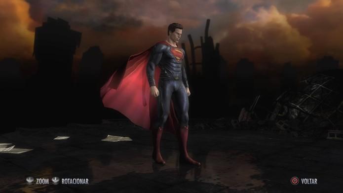 Superman de O Homem de Aço em Injustice (Foto: Reprodução/Felipe Vinha)