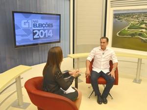 Entrevista do candidato Waldez Góes ao G1 Amapá (Foto: John Pacheco/G1)