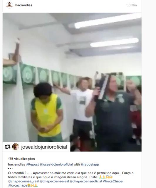 Hacran Dias Chapecoense (Foto: Reprodução / Instagram)