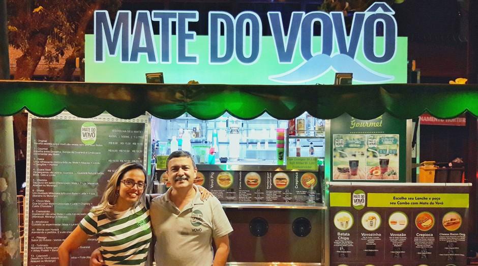 Anna Carolina Leite e Luiz Paulo Leite, fundadores do Mate do Vovô (Foto: Divulgação)