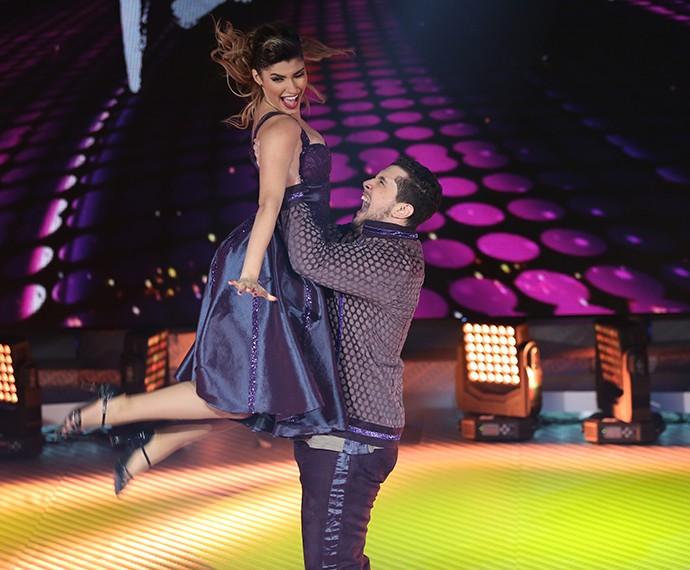 Bruno e Ana Paula durante sua apresentação no 'Dança' (Foto: Carol Caminha/Gshow)
