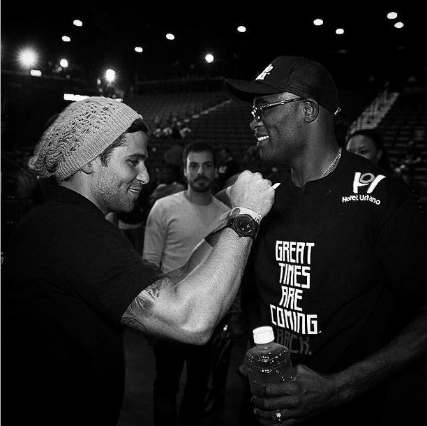 Bruno Gagliasso e Anderson Silva (Foto: Instagram)