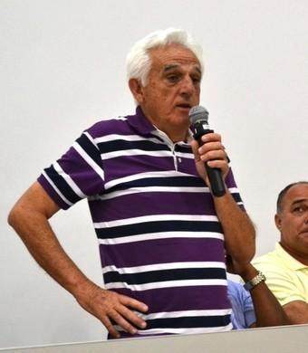 Geléia presidente do São José, Ruy Scarpino técnico (Foto: Filipe Rodrigues)