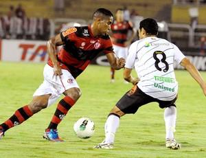 Cleber Santana no jogo do Flamengo contra o Figueirense (Foto: Alexandre Vidal / Fla Imagem)