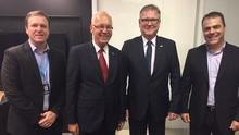 Embaixador da Alemanha é recebido por diretores da RBS TV  (Márcia Callegaro/RBS TV)