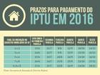 Quarta parcela do IPTU e da TLP do DF vence nesta semana; veja tabela