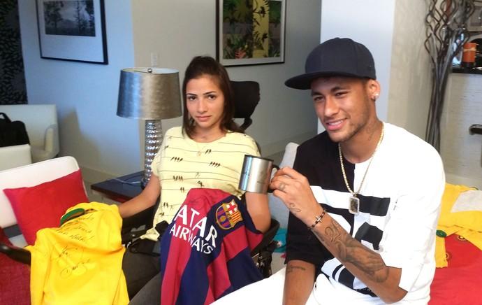 Neymar e Lais Souza (Foto: Marcio Iannacca)